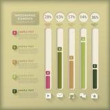 Infographics astratto dell'istogramma Fotografia Stock