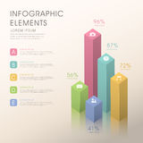 Infographics astratto dell'istogramma royalty illustrazione gratis