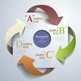 Infographics astratto della carta 3d Immagine Stock