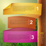 Infographics astratto della carta 3d di vettore Fotografie Stock