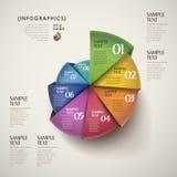 Infographics astratto della carta 3d di vettore Fotografia Stock