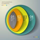 Infographics astratto della torre 3d Fotografia Stock Libera da Diritti