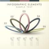Infographics astratto di forma dell'anello illustrazione vettoriale