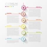 Infographics astratto variopinto di cronologia Illustrazione di vettore illustrazione vettoriale