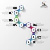 Infographics astratto variopinto moderno di cronologia Illustrazione di vettore Immagini Stock