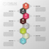 Infographics astratto variopinto piano di cronologia Vettore illustrazione vettoriale