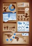 Infographics Auslegungelemente Lizenzfreie Stockbilder