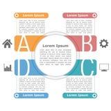 Infographics Auslegungschablone Stockbild