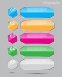 Infographics Auslegungschablone Stockbilder