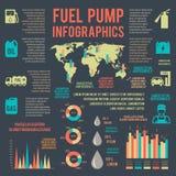 Infographics auto del servicio de la gasolina ilustración del vector