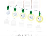 Infographics av en ljus kula Royaltyfri Bild