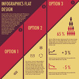 Infographics avec la conception plate Photo libre de droits