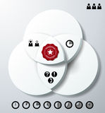 Infographics avec trois cercles de recouvrement illustration libre de droits