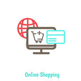 Infographics background E-commerce Royalty Free Stock Photo