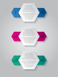 Infographics background with house icons and hexagon elements Royalty Free Stock Photos