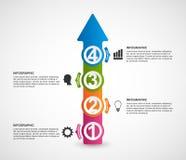 Infographics bajo la forma de flechas libre illustration
