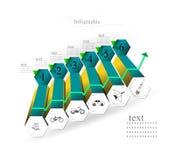 Infographics bajo la forma de pasos Foto de archivo