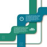 Infographics-Band streift weiße Hintergrundzeit der Art ab Lizenzfreie Stockfotografie