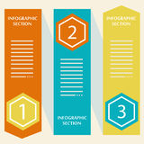 Infographics banners. Stock Photos