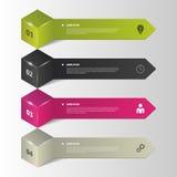 Infographics Bedrijfsstapopties Vector illustratie Royalty-vrije Stock Foto