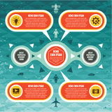 Infographics begrepp - vektorintrig Arkivbild