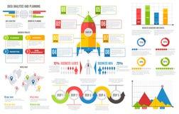 Infographics-Bericht Finanzschnittstellenentwurfs-Vektordarstellung des gewerblichen Benutzers des nomogramm-Balkendiagramm-Diagr lizenzfreie abbildung
