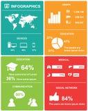 Infographics beståndsdelar. Arkivbild
