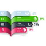 Infographics beståndsdelar Arkivfoto