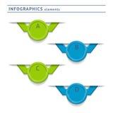 Infographics beståndsdelar. Designmall stock illustrationer