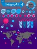 Infographics beståndsdeluppsättning för affären - vektor Royaltyfri Bild