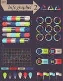 Infographics beståndsdeluppsättning för affären - vektor Arkivfoto