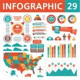Infographics beståndsdelar 29 Arkivbild
