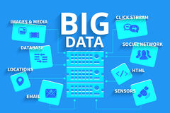Infographics Big data Royalty Free Stock Photography