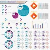 Infographics biznes I organizaci mapa - wektor Obrazy Royalty Free