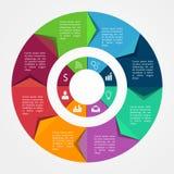 Infographics biznesu szablon Obrazy Stock