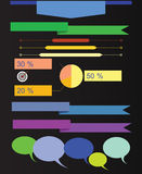 Infographics on a black background. Raster. Stock Photography