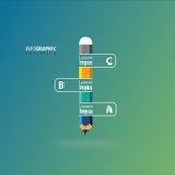 Infographics-Bleistift Stockfoto