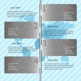 Infographics bleu en métal Photos stock