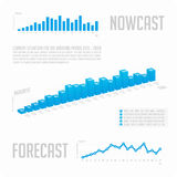 Infographics blue graph with text. Royalty Free Stock Photos