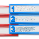 Infographics with blurred option bars Stock Photo
