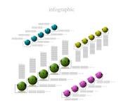 Infographics bollar för några projekterar Arkivfoton