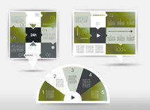 Infographics box diagrams Royalty Free Stock Photos