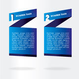 Infographics boxes Stock Image
