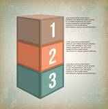 Infographics boxes vintage Royalty Free Stock Images