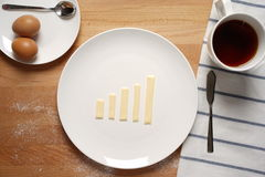 Infographics on the breakfast table Stock Images