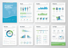 Infographics brochure elements for business data visualization Royalty Free Stock Photo