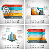 4 in 1 Infographics Bundle. Vector illustration of different business infographics. Vol.58 Royalty Free Illustration