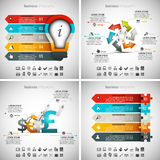 4 in 1 Infographics Bundle. Vector illustration of different business infographics. Vol.59 Vector Illustration