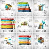 9 in 1  Infographics Bundle Stock Images