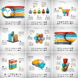9 in 1 Infographics Bundle. Vector illustration of different infographic templates. 9 in 1 set Vector Illustration